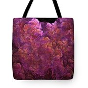 Pink Hydrangea Fractal Blossoms Tote Bag