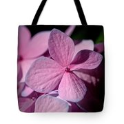 Pink Hydrangea Tote Bag by Rona Black