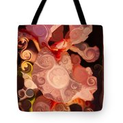 Pink Iris As A Burst Of Color Flower Abstract Art Tote Bag
