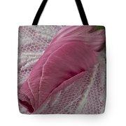 Pink Lavatera Bud Macro Tote Bag
