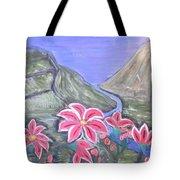 Pink Lillies Tote Bag