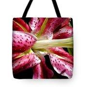 Pink Lily Macro Tote Bag
