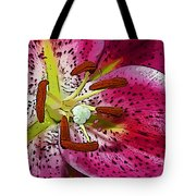 Pink Lily Painterly Tote Bag