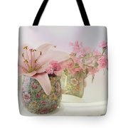 Pink Lily Rainbow Tote Bag
