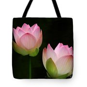 Pink Lotus Duet Tote Bag