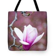 Pink Magnolia Flower Tote Bag