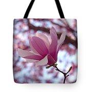 Pink Magnolia Tote Bag by Rona Black