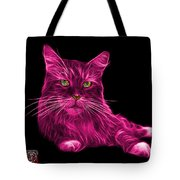 Pink Maine Coon Cat - 3926 - Bb Tote Bag