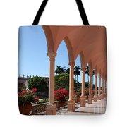 Pink Marble Colonnade Tote Bag