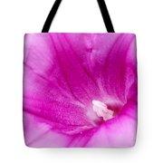 Pink Morning Glory Flower Macro Tote Bag