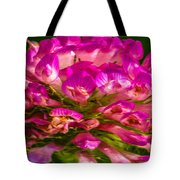 Pink Mystery Flower Tote Bag