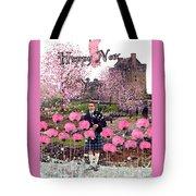 Pink New Year Greeting Tote Bag