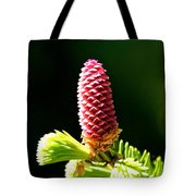 Pink On Green Tote Bag
