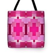 Pink On Pink Panorama 4 Tote Bag