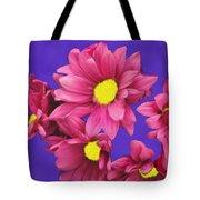 Pink On Purple Tote Bag