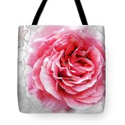 Pink On White Tote Bag