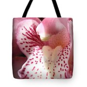 Pink Orchid Closeup Tote Bag