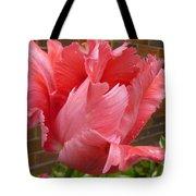 Pink Parrot Tulip Tote Bag
