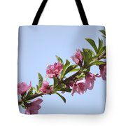 Pink Peach Blossoms Tote Bag