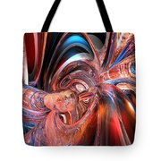 Pink Peacock Abstract Fx  Tote Bag
