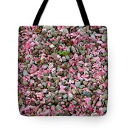 Pink Petals On Stones  Tote Bag