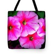 Pink Petunias Tote Bag