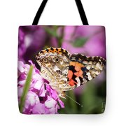 Pink Phlox With Butterfly Tote Bag