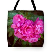 Pink Plumeria Abstract Flower Painting Tote Bag