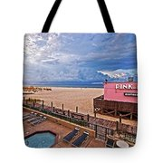 Pink Pony And Approaching Storm Tote Bag