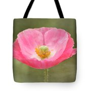 Pink Poppy Flower Tote Bag
