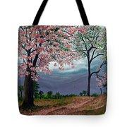 Pink Poui Tote Bag