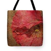 Pink Poppy Gold Leaf Tote Bag