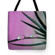 Pink Rain Drops Tote Bag
