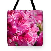 Rhododendron Called Azalea Bright Pink Flowers  Tote Bag