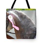 Pink Ribboned Grey Tote Bag
