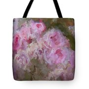 Pink Rose Abstract Tote Bag