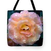 Pink Rose Bathed In Rain Tote Bag