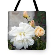Pink Rose Buds At Carmel By The Sea Mission Tote Bag