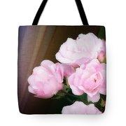 Pink Rose Cluster Tote Bag