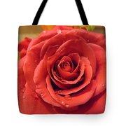 Pink Rose Drops Tote Bag