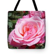 Pink Rose Flower Floral Art Prints Roses Tote Bag