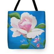 Pink Rose In Paint Tote Bag