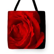 Pink Rose Isolated On Black Tote Bag