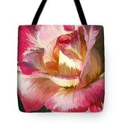 Pink Rose Painted  Tote Bag