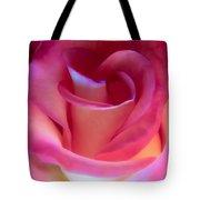 Pink Rose Pedals Tote Bag