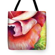 Pink Rose Two Panel Four Of Four Tote Bag