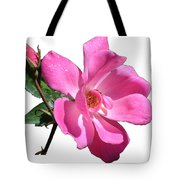 Pink Rose With Bud Tote Bag