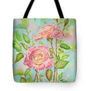 Pink Roses And Bud Tote Bag