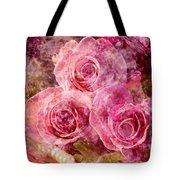 Pink Roses And Pearls Tote Bag