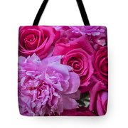 Pink Roses And Peonies Please Tote Bag
